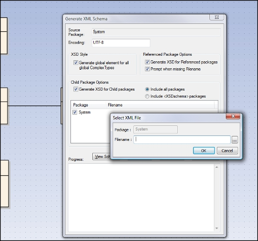 Enterprise Architect - Generate XML Schema Detail View