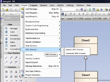 Enterprise Architect - Generate XML Schema