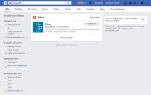 Facebook-Suche mit Benutzernamen